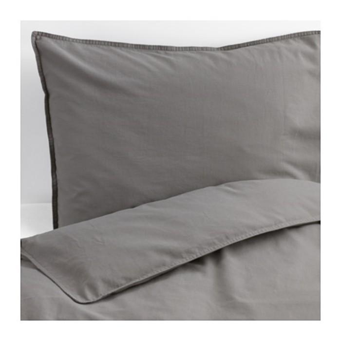 КПБ ЭНГСЛИЛЬЯ, размер 150х200 см, 50х70 см-1 шт., цвет серый