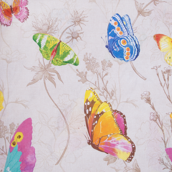 "Постельное бельё ""Этель"" евро Бабочки, размер 200х217 см, 220х240 см, 70х70 - 2 шт., 100% хлопок, поплин, 125 г/м2"