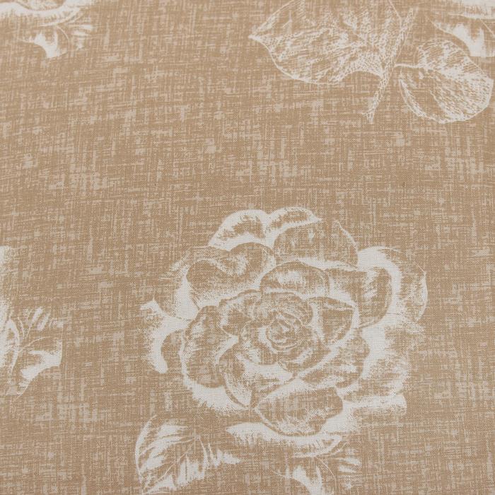 """Постельное бельё """"Этель"""" евро Кремовая роза, размер 200х217 см, 220х240 см, 70х70 см - 2 шт., поплин, 125 г/м2"""