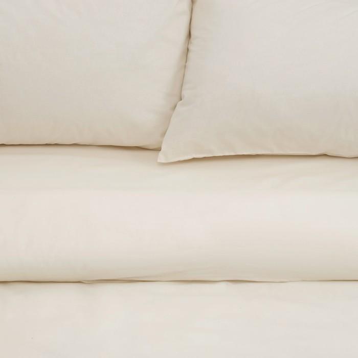 Постельное бельё «Этель» евро Арома Поплин 200×210 см, 220×240 см, 50×70 см - 2 шт., Ваниль, 125 г/м², 100% хлопок