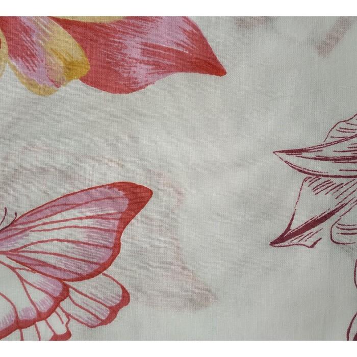 Постельное бельё евро Pastel «Цветочный мотив», 200х217, 220х240, 70х70 - 2 шт, поплин