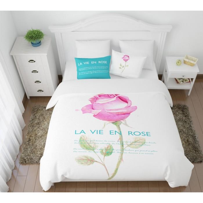 КПБ «Жизнь в розовом цвете» евро, размер 220× 240 см, 200×220 см, 50×70 см, 70×70 см по 2 шт