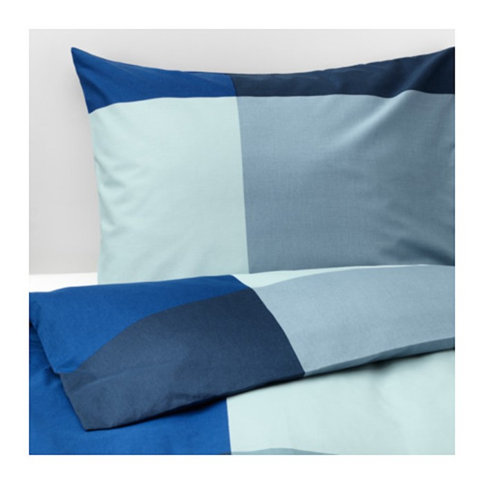 КПБ БРУНКРИСЛА, размер 150х200 см, 50х70 см-1 шт., цвет синий/серый