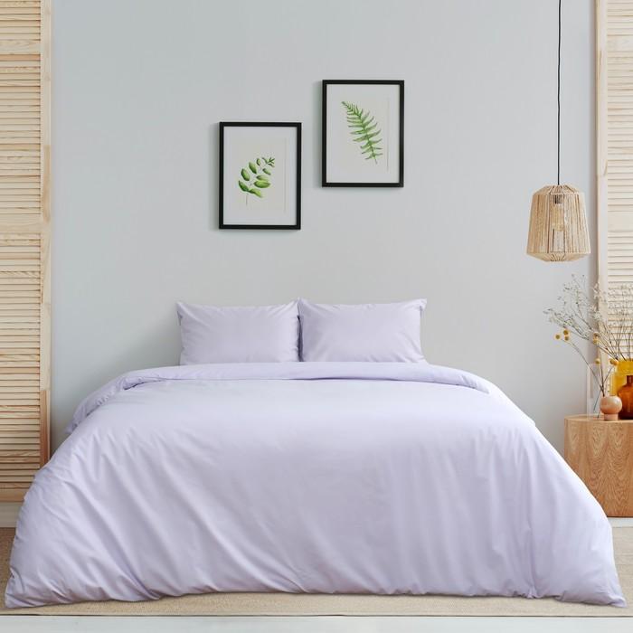 Постельное бельё «Этель» дуэт Арома Поплин 150×210 см - 2 шт., 220×240 см, 50×70 см - 2 шт., Лаванда, 125г/м², 100% хл