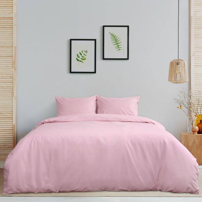 Постельное бельё «Этель» дуэт Арома Поплин 150×210 см - 2 шт., 220×240 см, 50×70 см - 2 шт., Роза, 125 г/м², 100% хл