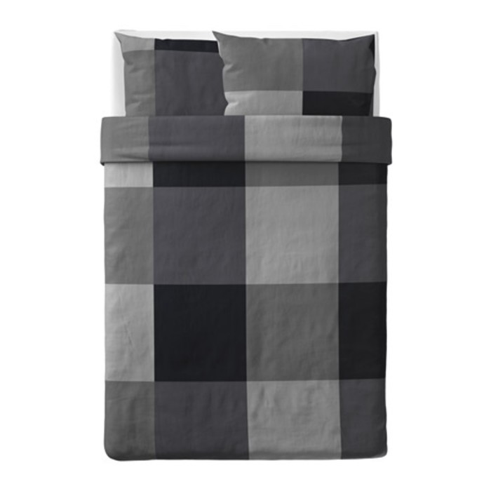 КПБ БРУНКРИСЛА, размер 200х200 см, 50х70 см-2 шт., цвет чёрный