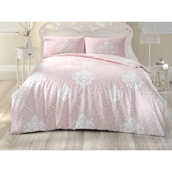 КПБ Snazzy 1,5 сп, 160х240 см, 160х220 см, 50х70 см-1 шт., цвет розовый, ранфорс 115 г/м2 298/12   3