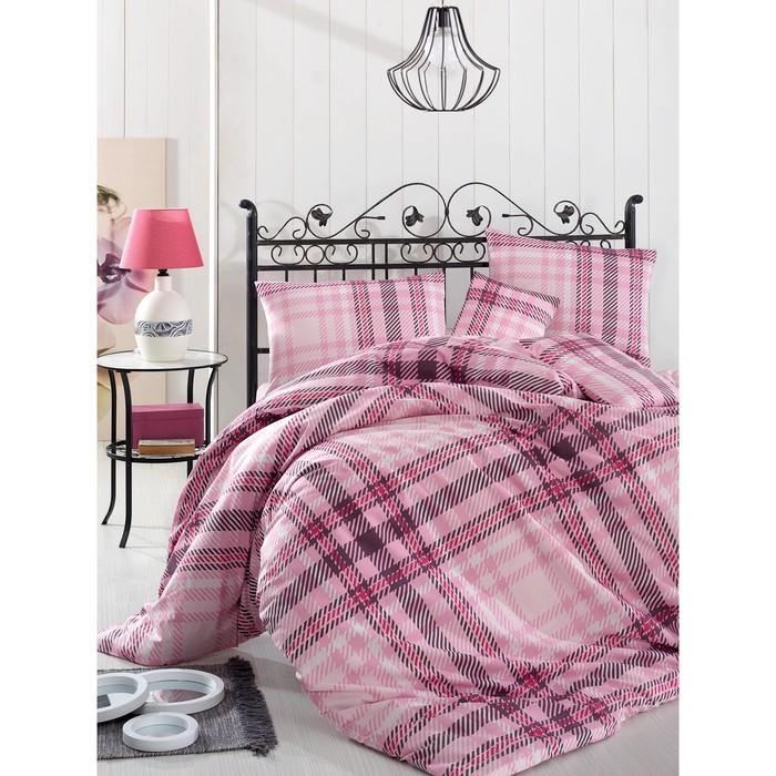 КПБ Aliz 1,5 сп, 160х240 см, 160х220 см, 50х70 см-1 шт., цвет розовый, ранфорс 115 г/м2 298/36   314