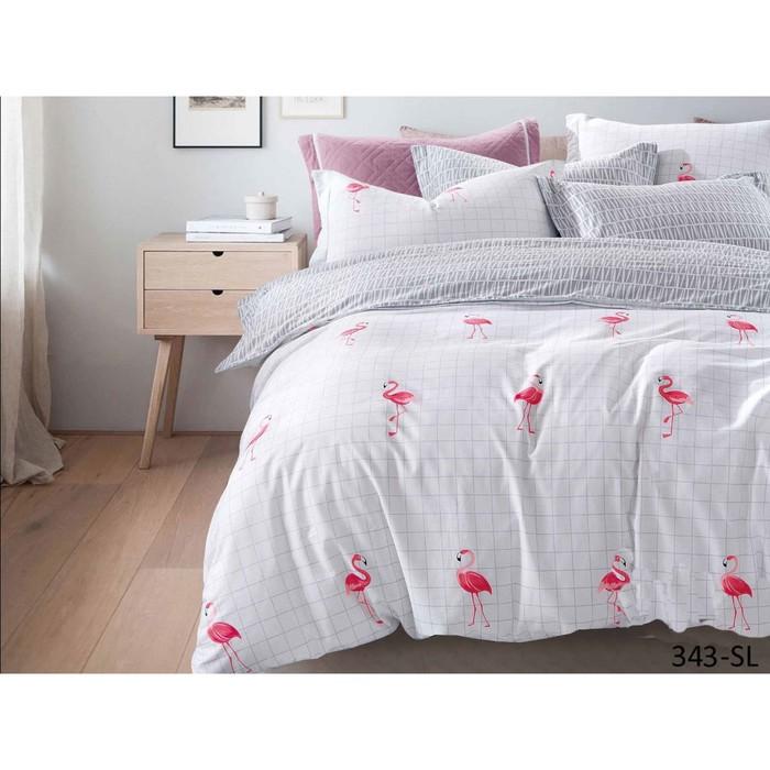 КПБ «Фламинго» дуэт, размер 220 × 240 см, 145 × 215 см-2 шт, 50 × 70 см, 70 × 70 см по 2 шт   423845