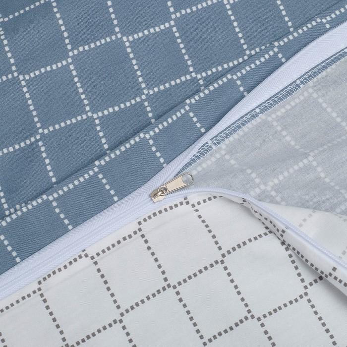 Постельное бельё 2 сп. Этель Люкс «Квадраты» 180×210 см, 200×220 см, 50×70 + 5 см - 2 шт, сатин, 100% хл, 130 г/м²