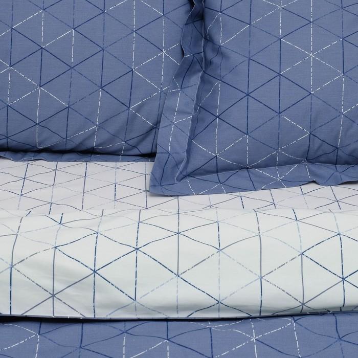 Постельное бельё 2 сп. Этель Люкс «Ромбы» 180×210 см, 200×220 см, 50×70 + 5 см - 2 шт, сатин, 100% хл, 130 г/м²