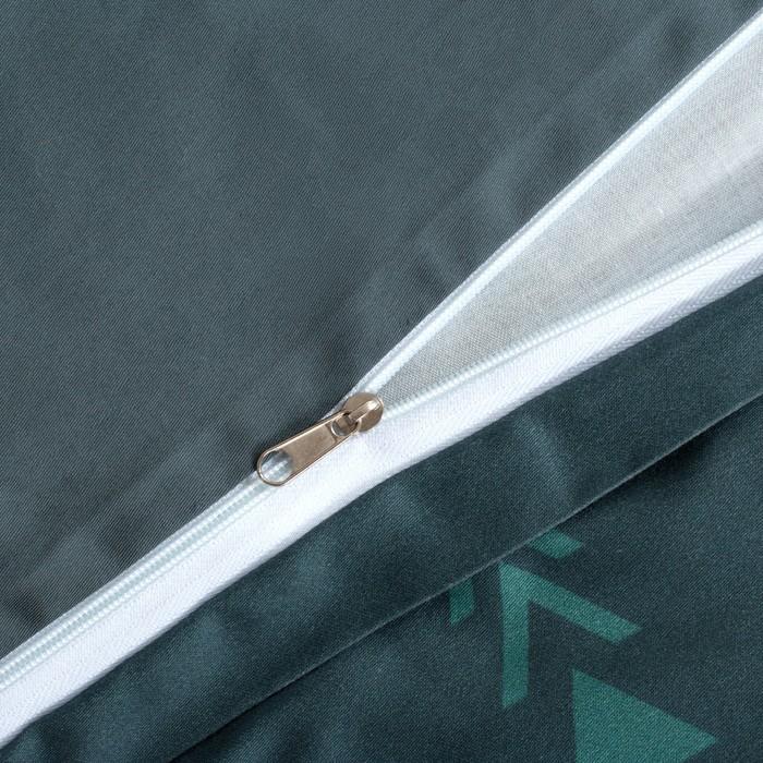 """Постельное бельё """"Этель"""" 2 сп Кактусы 175х215 см, 220х240 см, 50х70 см - 2 шт, мако-сатин"""