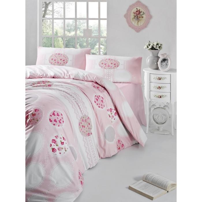 КПБ Belin евро, 240х260 см, 200х220 см, 50х70 см-2 шт.. цвет розовый, ранфорс 115 г/м2 297/7   31468