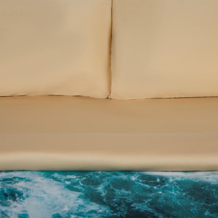 """Постельное бельё """"Этель"""" евро Морская волна 200х217 см, 240х260 см, 50х70 см - 2 шт, мако-сатин"""