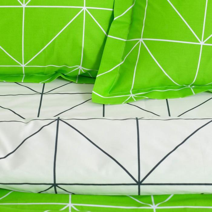 Постельное бельё дуэт Этель Люкс «Лайм» 150×210 см - 2 шт, 220×240 см, 50×70 + 5см - 2 шт, сатин, 100% хл, 130 г/м²