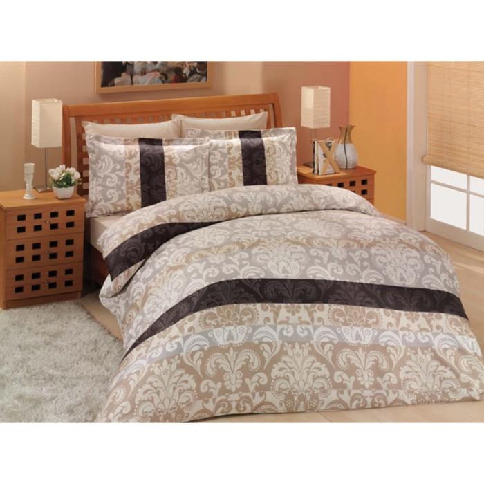 КПБ Classico евро, 240х260 см, 200х220 см, 50х70 см-4 шт., цвет коричневый, сатин 125 г/м2 255/2/5