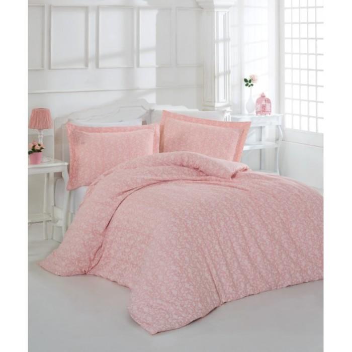 КПБ евро Pretty, 240х260 см, 200х220 см, 50х70 см-4 шт., розовый