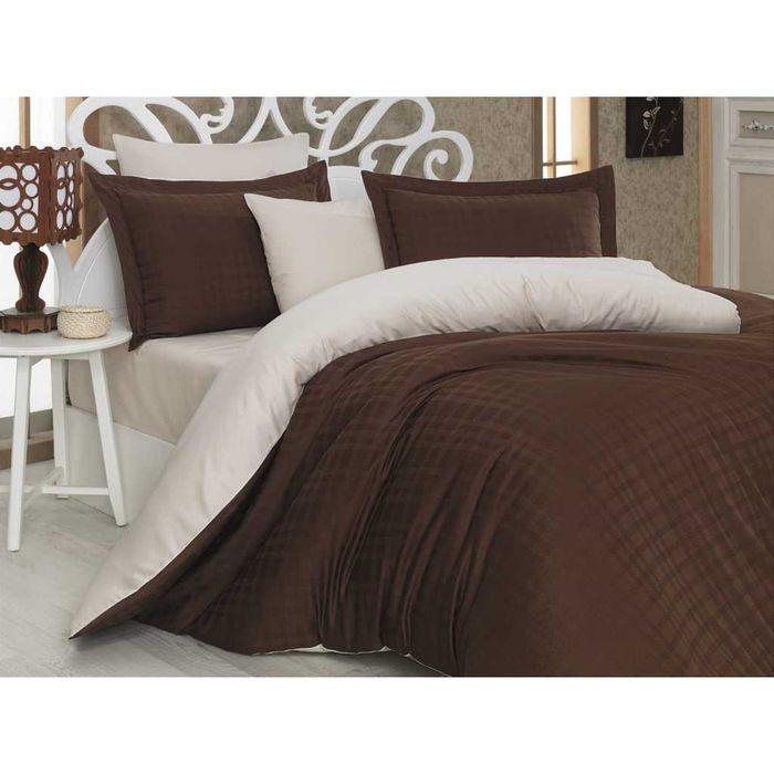 КПБ Ekose 1,5 сп, размер 160х220, 160х240, 50х70, 70х70 по 1 шт, цвет коричневый, сатин