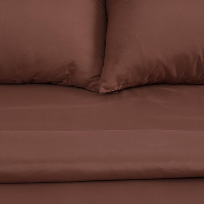 "Постельное бельё ""Этель"" евро Капучино 200х217 см, 220х240 см, 50х70 см -2 шт, микрофайбер, 75 г/м²"