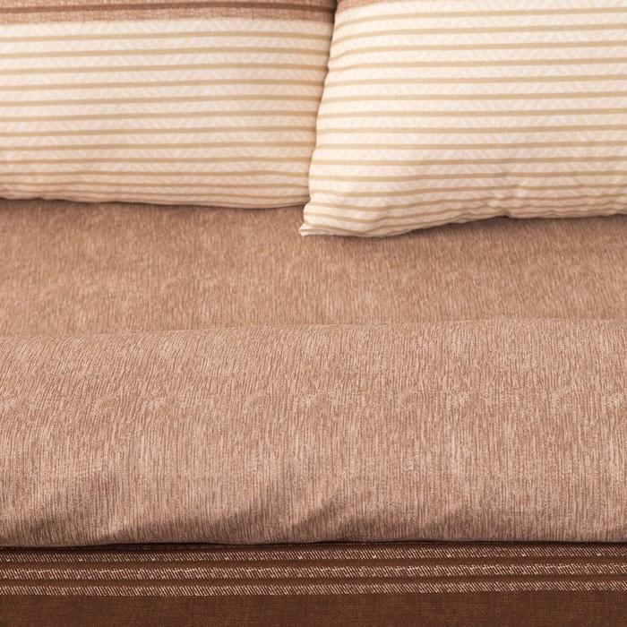 Постельное бельё Этель 1,5 сп. «Стиль» цвет коричневый 150×210см, 150×210см, 50×70 ± 3см-2 шт, новосатин