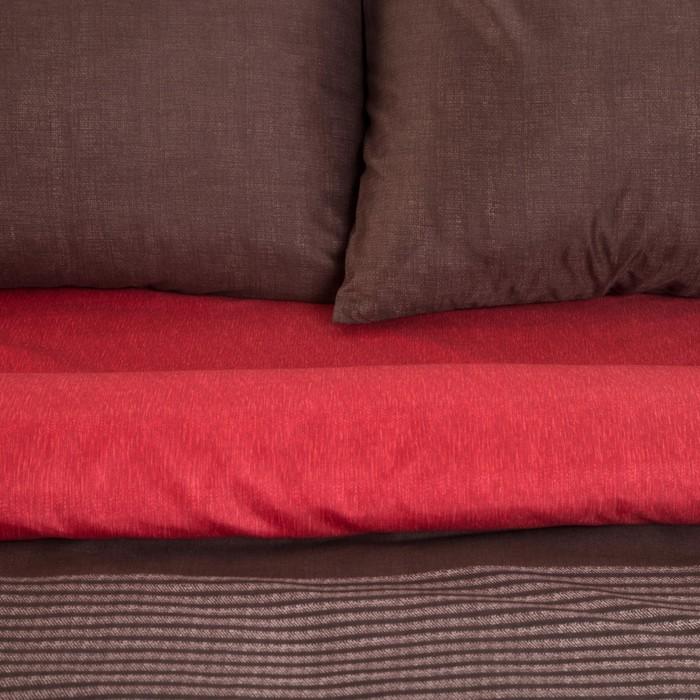 Постельное бельё Этель 1,5 сп. «Стиль» цвет бордовый 150×210 см, 150×210 см, 50×70 ± 3 см - 2 шт., новосатин