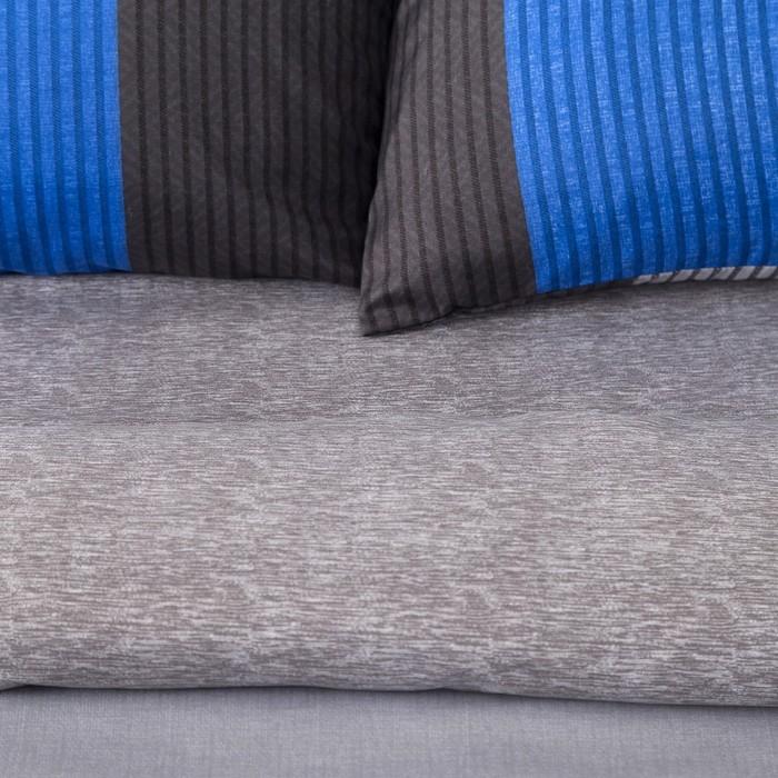 Постельное бельё Этель 1,5 сп. «Стиль» цвет голубой 150×210 см, 150×210см, 50×70 ± 3см- 2 шт, новосатин