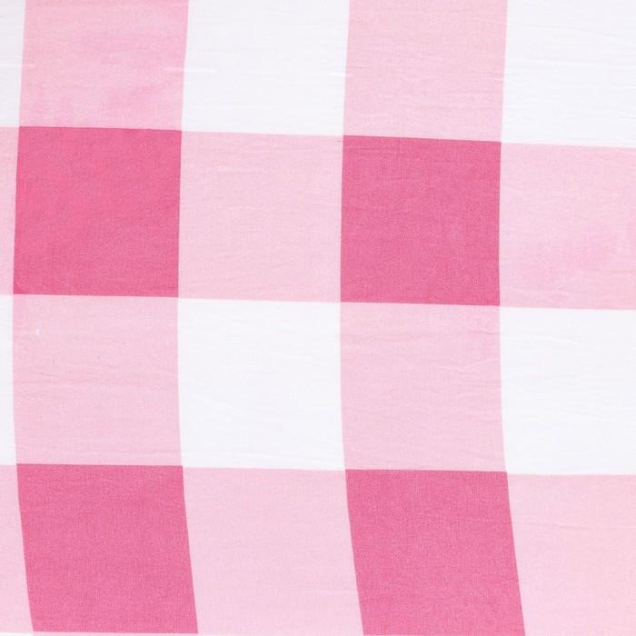 Постельное бельё Этель 1,5 сп. «Клетка» цвет красно-белый 150×210см, 150×210см, 50×70 ± 3см-2 шт, новосатин