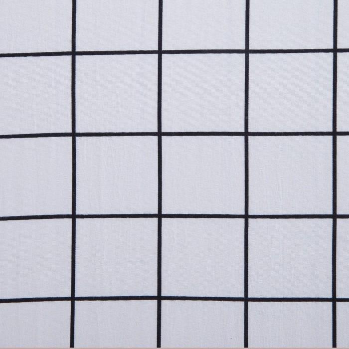 Постельное бельё Этель 2 сп. «Клетка» цвет белый 180×210 см, 220×240 см, 50×70 ± 3 см - 2 шт., новосатин