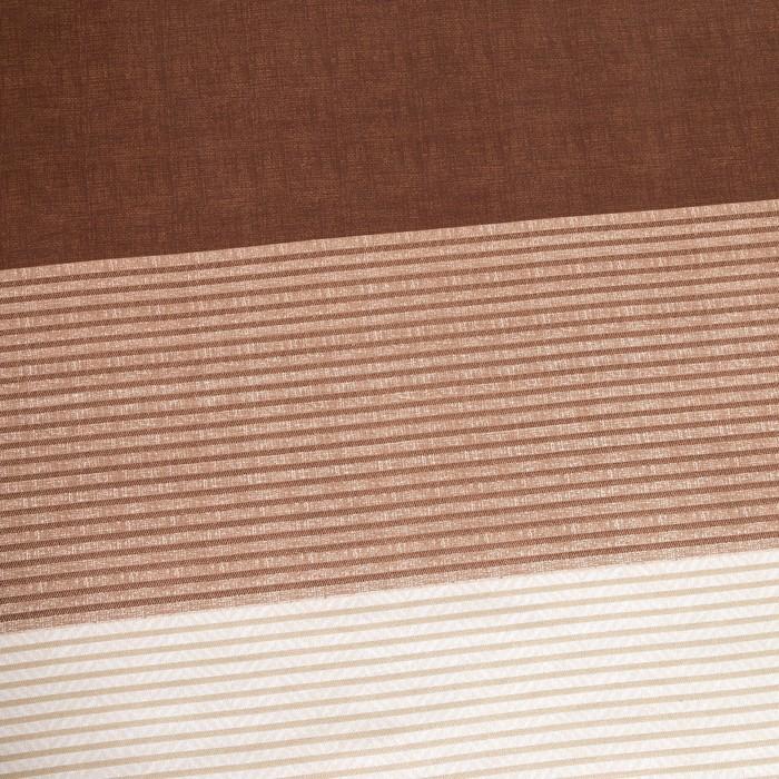 Постельное бельё Этель 2 сп. «Стиль» цвет коричневый 180×210 см, 220×240 см, 50×70 ± 3 см - 2 шт., новосатин