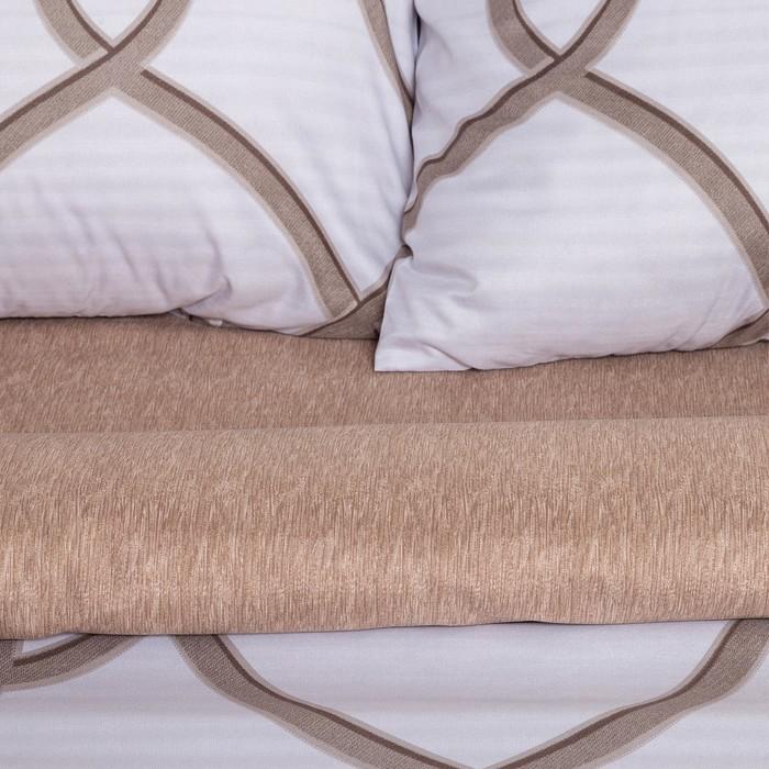 Постельное бельё Этель евро «Престиж» цвет молочный 200×220 см, 220×240 см, 50×70 ± 3 см - 2 шт, новосатин