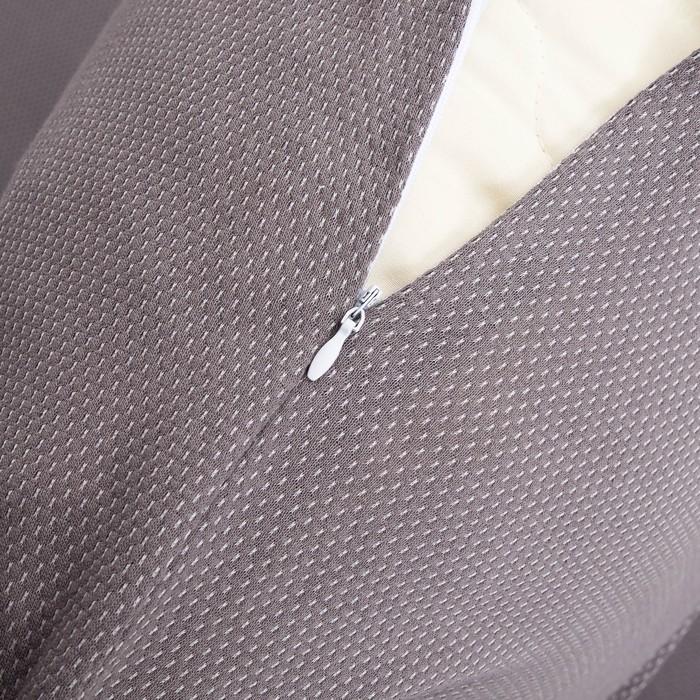 Постельное бельё Лакоста евро серый 200х220см, 200х200см, 50х70см-2 шт, трикотаж, хл 100%