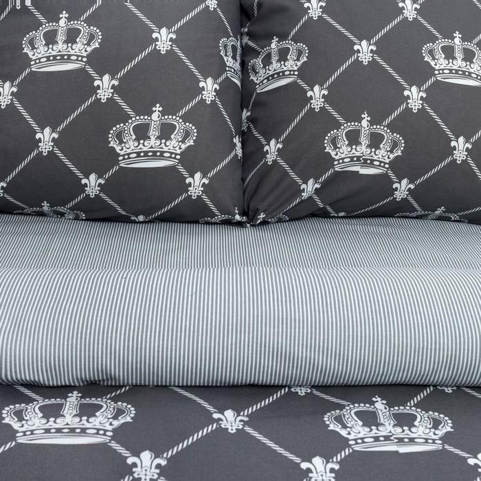 """Постельное бельё """"Этель"""" евро Crown 200х217 см, 220х240 см, 70х70 см -2 шт, бязь"""