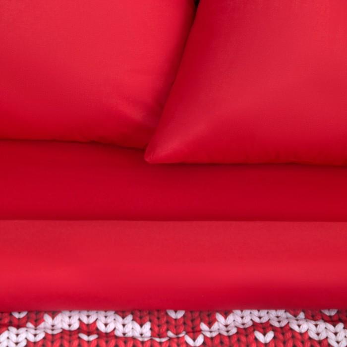 """Постельное бельё """"Этель"""" 2 сп Новогодняя вязка 175 х 215 см, 200 х 220 см, 70 х 70 см - 2 шт, поплин"""