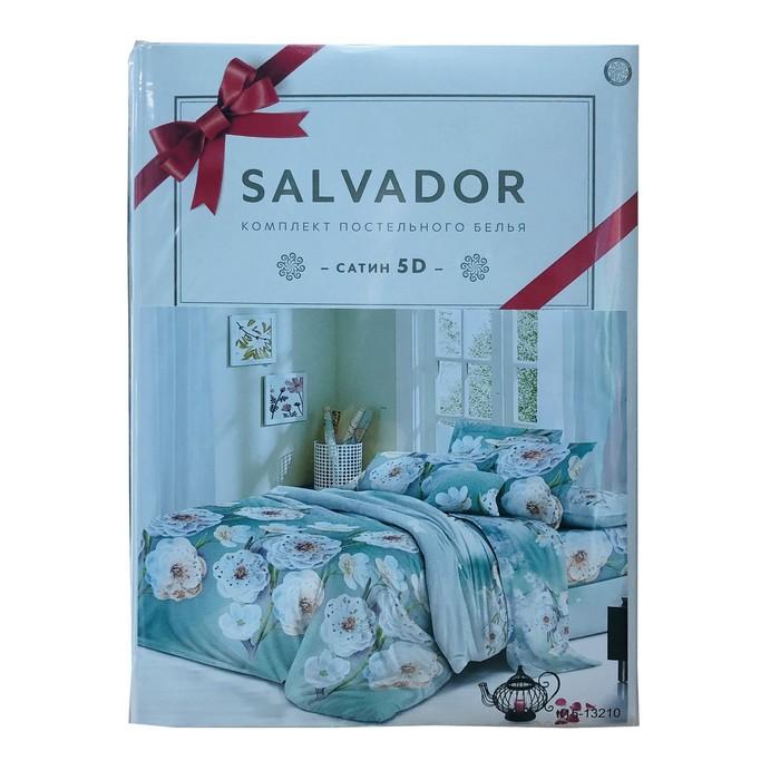 Постельное бельё Salvador 2 сп. 180х215 см, 180х215 см, 70х70см 2шт, полисатин 85г/м, пэ100%