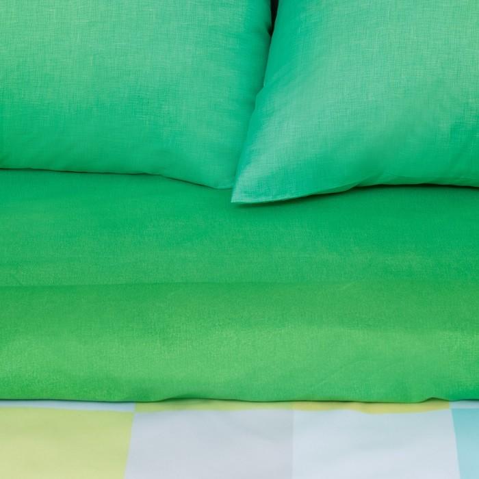 """Постельное бельё """"Этель"""" 2 сп. Пиксели (зелёный) 180х210 см, 220х240 см, 50х70 ± 3 см - 2 шт., новосатин"""