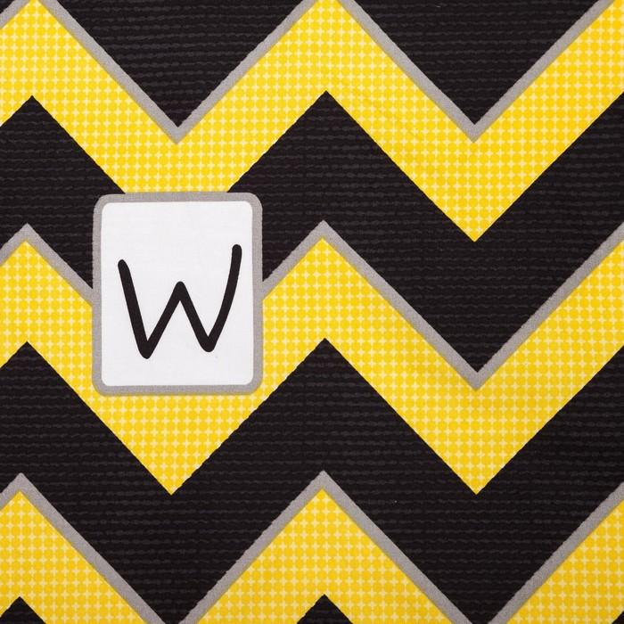 Постельное бельё Экономь и Я 2 сп. «Зигзаги» 180×210 см, 220×240см, 50×70 ± 3 см-2шт, цв.желтый, микрофайбер