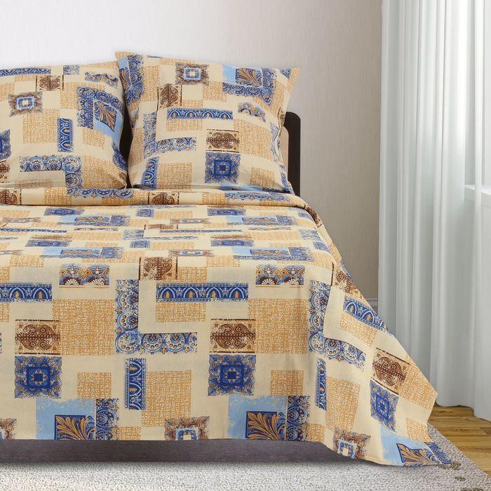 Постельное бельё 1,5 сп, Samy «Арабески», цвет бежевый, 147х215 см, 150х210 см, 70х70 см — 2 шт