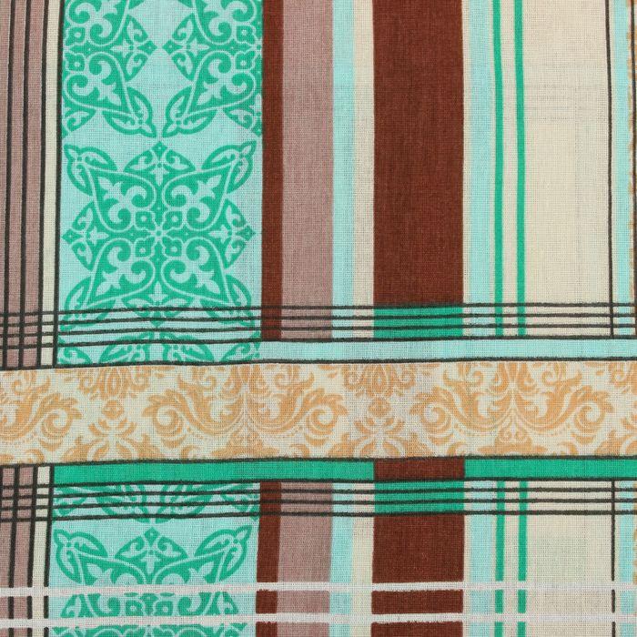 Постельное бельё 1,5 сп, Samy «Геометрия», цвет зелёный, 147х215 см, 150х215 см, 70х70 см — 2 шт