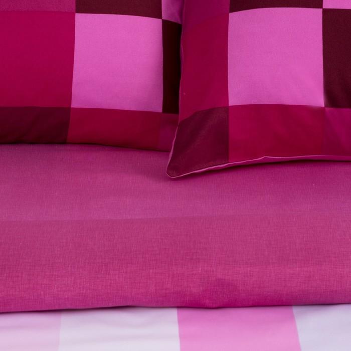 """Постельное бельё """"Этель"""" дуэт Пиксели (фиолетовый) 150х210 см - 2 шт, 220х240 см, 50х70 ± 3 см - 2 шт.,"""