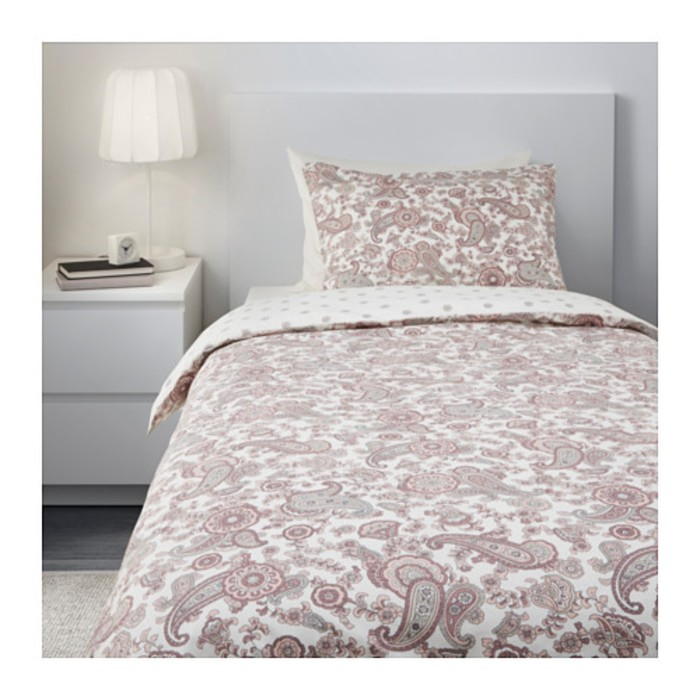 КПБ РЕНБЛОММА, размер 150х200 см, 50х70 см-1 шт., цвет розовый