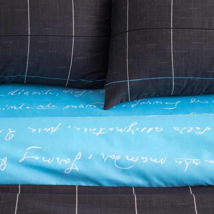 Постельное бельё Экономь и Я евро «Эстет» 200×220 см, 220×240 см, 50×70 ± 3 см - 2 шт, микрофайбер