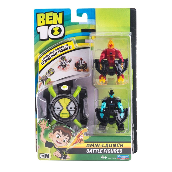 Игровой набор Ben 10 Omni-Launch. Человек-огонь и Молния