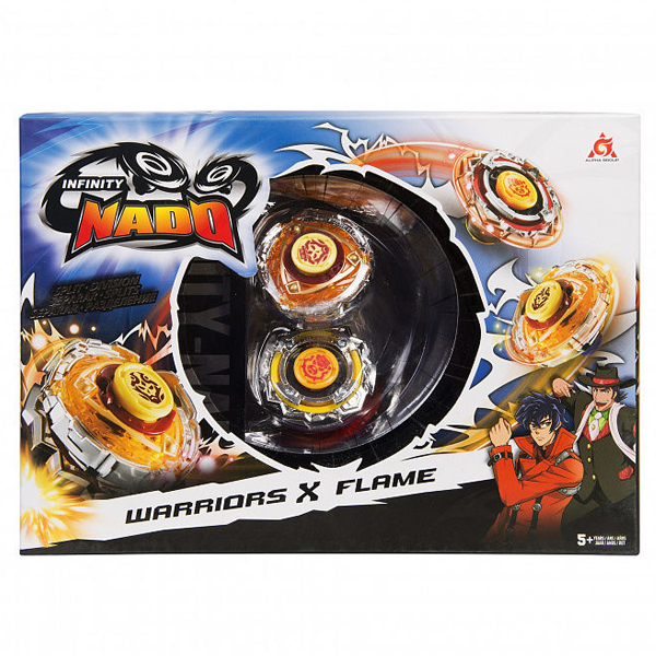 Игровой набор Infinity Nado 2 волчка Сплит, Warriors&Flame