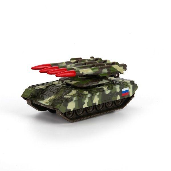 Набор игрушек Технопарк Ракетно-зенитный комплекс 12см, зеленый камуфляж