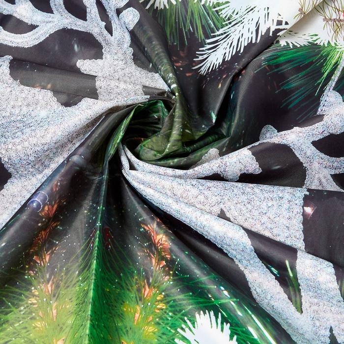 Скатерть с пропиткой «Сосновые ветви», 120х140 см, оксфорд, 240 г/м2, 100% полиэстер