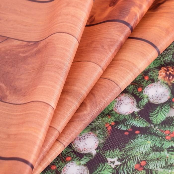Скатерть с пропиткой «С рождеством», 140х220 см, оксфорд