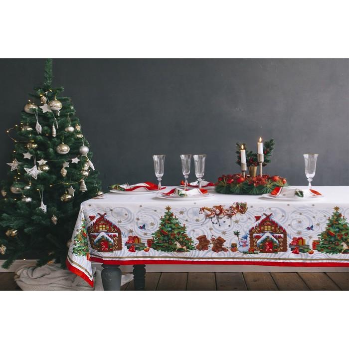 """Набор столовый Этель """"Новогодняя сказка"""" скатерть 220*150 см, салф. 40*40 см-12 шт, хл100%"""