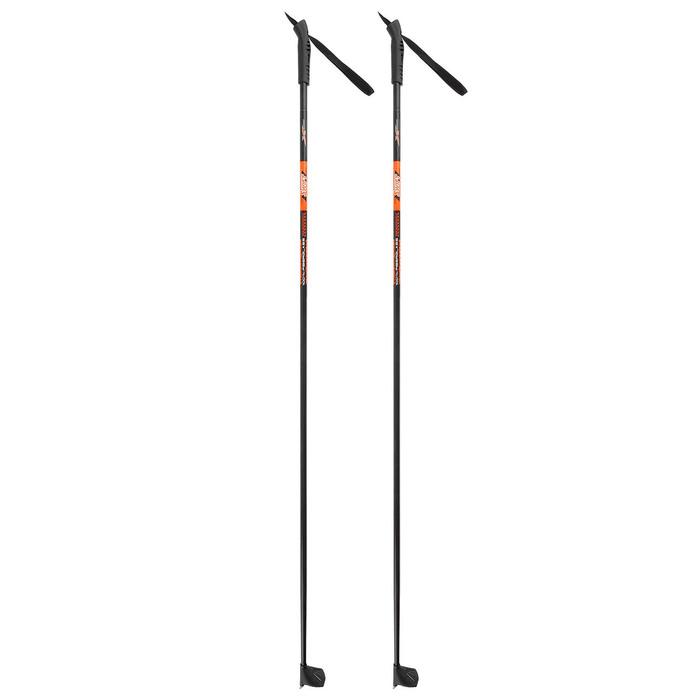 Палки лыжные стеклопластиковые, 125 см, цвет МИКС