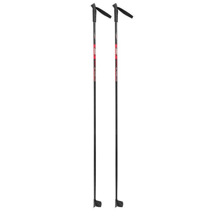 Палки лыжные стеклопластиковые, 135 см, цвет МИКС