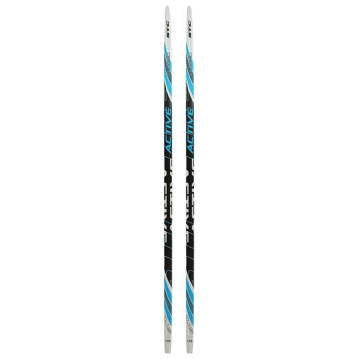 Лыжи пластиковые БРЕНД ЦСТ step, 195 см, цвет МИКС